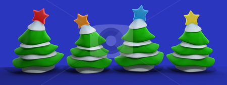Christmas Trees stock photo, Computer Generated Image - Christmas Trees . by Konstantinos Kokkinis
