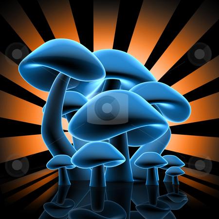 Mushrooms Design stock photo, Computer Generated Image - Mushrooms Design . by Konstantinos Kokkinis