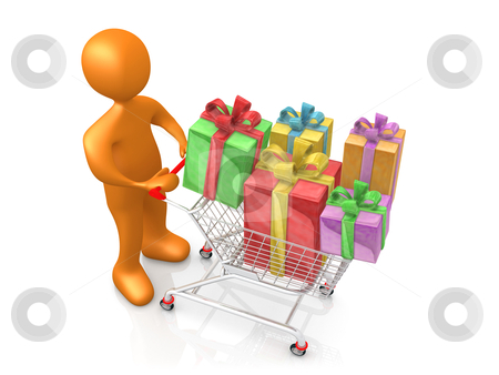 Buying Presents stock photo, Computer Generated Image - Buying Presents . by Konstantinos Kokkinis