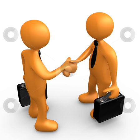 Business Agreement stock photo, Computer Generated Image - Business Agreement . by Konstantinos Kokkinis