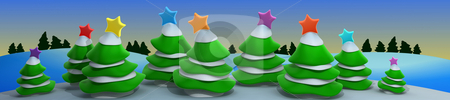 Christmas Scenery stock photo, Computer Generated Image - Christmas Scenery . by Konstantinos Kokkinis