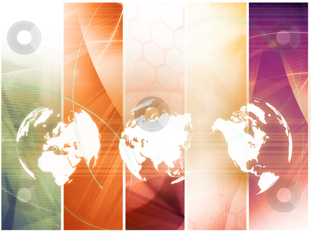 World map technology style  stock photo, world map technology style - perfect background with space for text or image by ilolab