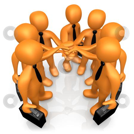 Teamwork stock photo, Computer Generated 3D Image - Teamwork . by Konstantinos Kokkinis