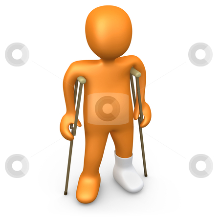 Person With Broken Foot stock photo, Computer Generated Image - Person With Broken Foot. by Konstantinos Kokkinis