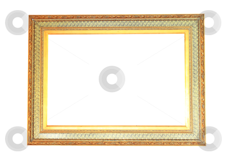 Old style wood frame  stock photo, Old style wood frame by rufous