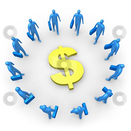 Corporate Income - Dollar stock photo, Computer generated image - Corporate Income - Dollar. by Konstantinos Kokkinis