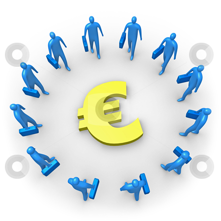 Corporate Income - Euro stock photo, Computer generated image - Corporate Income - Euro. by Konstantinos Kokkinis