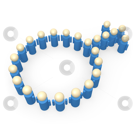 Male Symbol stock photo, Computer generated Image - Male Symbol. by Konstantinos Kokkinis