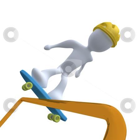 Skating stock photo, Computer generated image - Skating. by Konstantinos Kokkinis