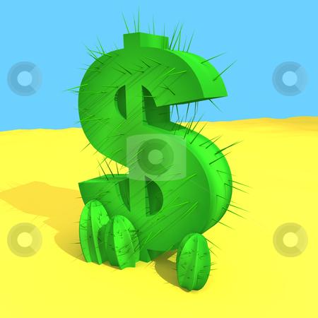 Dollar Cactus stock photo, Computer generated image - Dollar Cactus. by Konstantinos Kokkinis