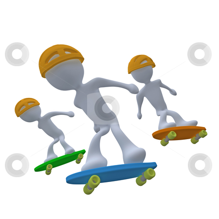 Skating stock photo, Computer generated image - Skating. by Konstantinos Kokkinis