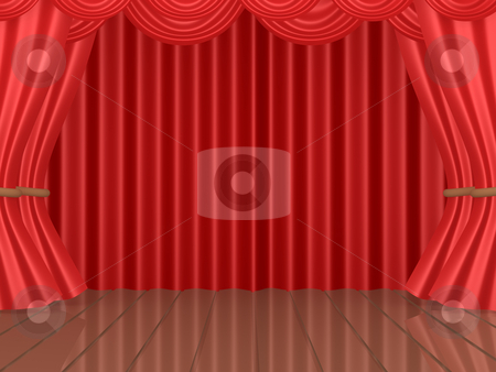 Theatrical Stage stock photo, Computer generated image - Theatrical Stage by Konstantinos Kokkinis