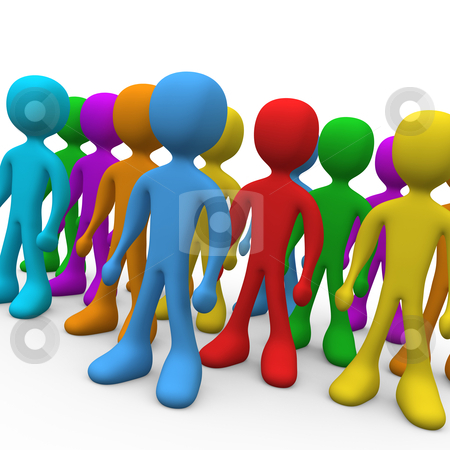 Group of people stock photo, Group of people with various colors. by Konstantinos Kokkinis