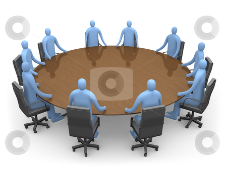 Having A Meeting stock photo, 3d People Having A Meeting. by Konstantinos Kokkinis