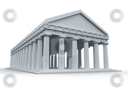 Ancient Greek Temple stock photo, A computer generated ancient Greek temple. by Konstantinos Kokkinis