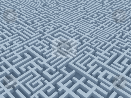 Maze stock photo, A computer generated image - maze by Konstantinos Kokkinis