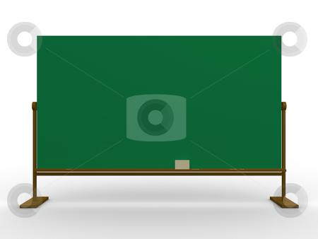 Blackboard stock photo, Computer generated image - 3d blackboard. by Konstantinos Kokkinis