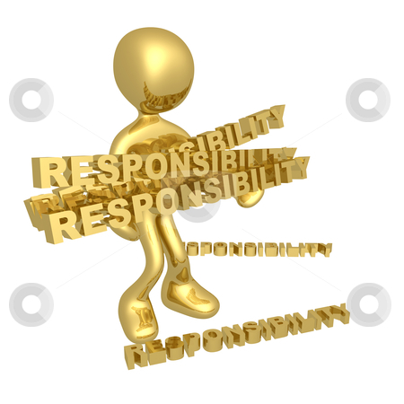 Lots of responsibilities stock photo, Person with lots of responsibilities. by Konstantinos Kokkinis