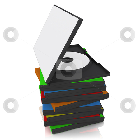 DVD Cases stock photo, 3d dvd case with blank cover by Konstantinos Kokkinis
