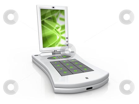 Digital Palm stock photo, Computer generated image - Digital Palmtop by Konstantinos Kokkinis
