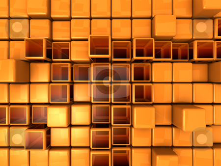 Abstract Background - Cubes stock photo, Computer Generated Image - Abstract Background - Cubes. by Konstantinos Kokkinis