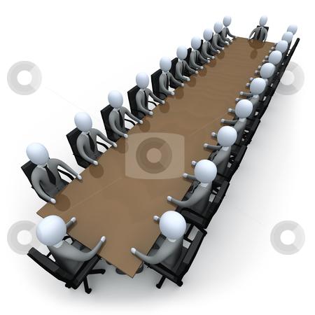 Meeting stock photo, Company members having a meeting. by Konstantinos Kokkinis