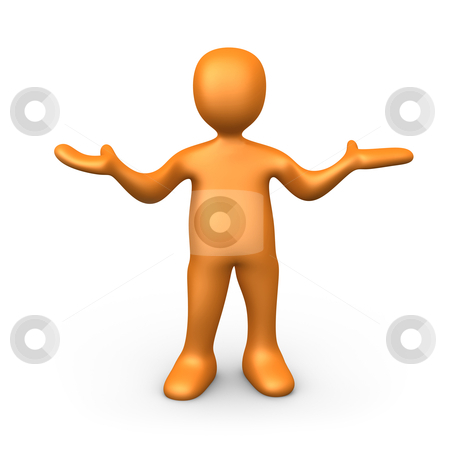 What stock photo, 3d person with his hands up. by Konstantinos Kokkinis