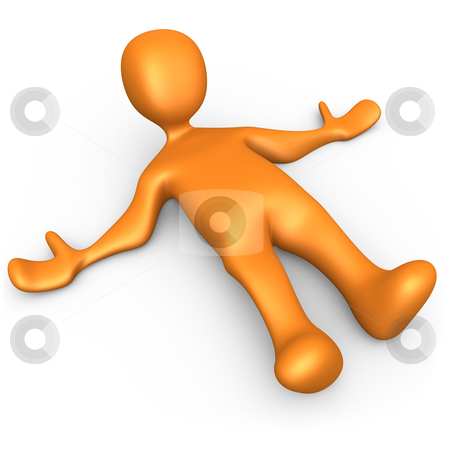 On The Ground stock photo, 3d person laying on the ground. by Konstantinos Kokkinis