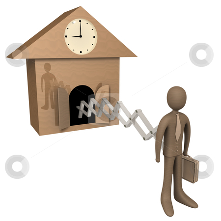 Time For Work stock photo, Metaphor showing that it's time to start working. by Konstantinos Kokkinis