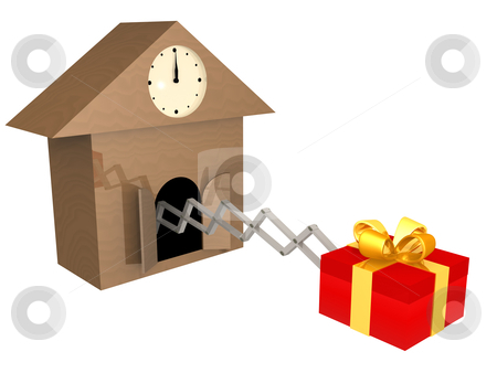 Time To Buy Presents stock photo, Metaphor showing that it's time to buy presents. by Konstantinos Kokkinis