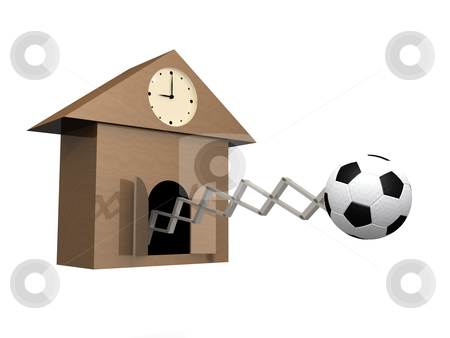 Time To Play Football stock photo, Metaphor showing it's time to start playing football. by Konstantinos Kokkinis