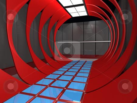 Futuristic Interior stock photo, Computer generated image - Futuristic Interior . by Konstantinos Kokkinis