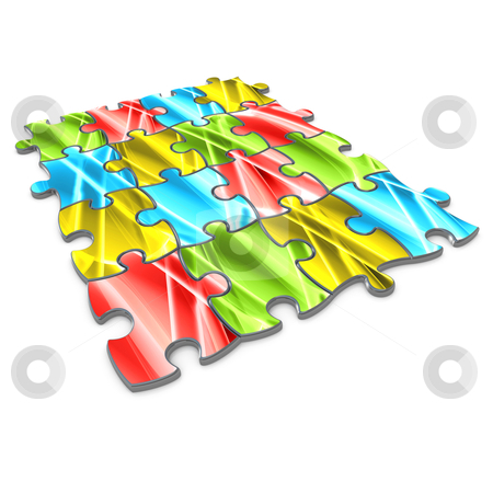 Abstract Puzzle stock photo, Puzzle pieces with abstract designs on them. by Konstantinos Kokkinis