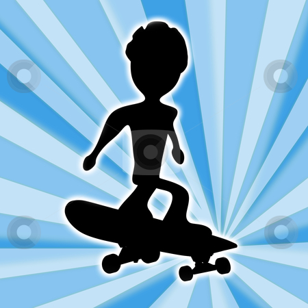 Skateboarding stock photo, Computer generated image - Skateboarding Design . by Konstantinos Kokkinis