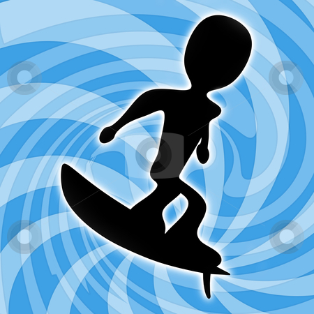 Surfing stock photo, Computer generated image - Surfing Design . by Konstantinos Kokkinis