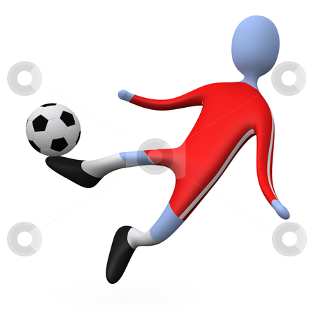Football player stock photo, Computer generated image - Football player . by Konstantinos Kokkinis