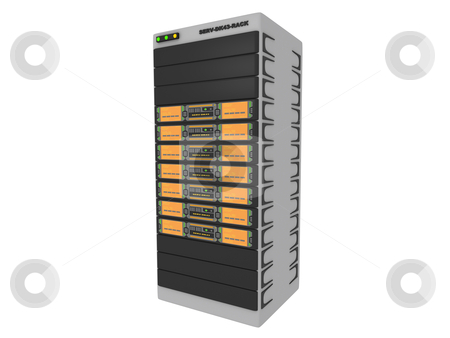 3D Server stock photo, Computer generated image - 3D Server . by Konstantinos Kokkinis