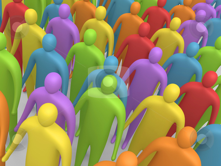 Multicolor People stock photo, Computer generated image - Multicolor People. by Konstantinos Kokkinis
