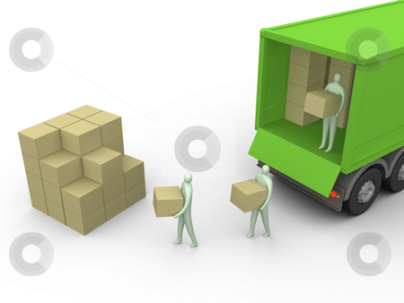 Cargo-Truck stock photo, Computer generated image - Cargo-Truck. by Konstantinos Kokkinis