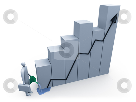 Business Growth stock photo, Computer generated image - Business Growth . by Konstantinos Kokkinis
