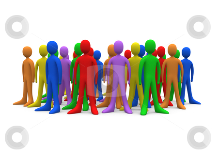 Toon Crowd stock photo, Computer generated image - Toon Crowd. by Konstantinos Kokkinis