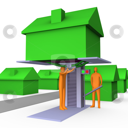 Home Repairs stock photo, Computer generated image - Home Repairs by Konstantinos Kokkinis