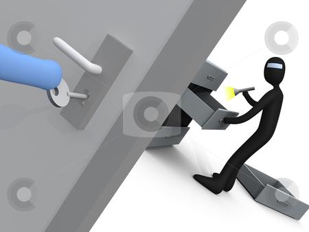 Burglar stock photo, Computer generated image - Burglar. by Konstantinos Kokkinis