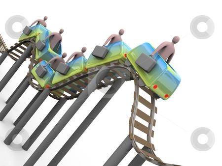 Business Rollercoaster stock photo, Computer generated image - Business Rollercoaster. by Konstantinos Kokkinis