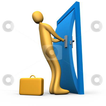 Let me in stock photo, Computer generated image. Let me in. by Konstantinos Kokkinis