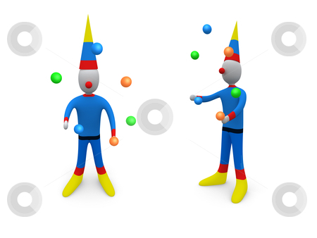 Holidays - Clown stock photo, Computer generated image - Holidays - Clown. by Konstantinos Kokkinis