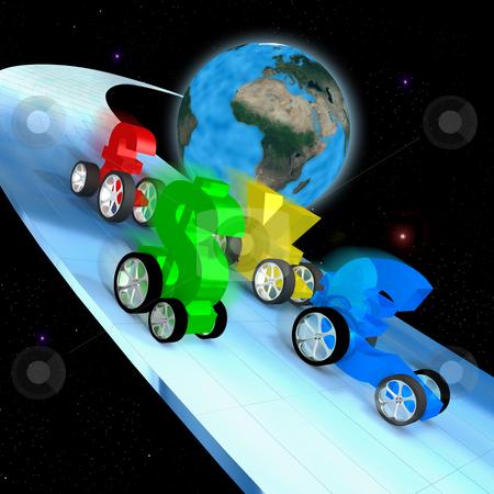 World Economy Race stock photo, Computer generated image - World Economy Race. by Konstantinos Kokkinis