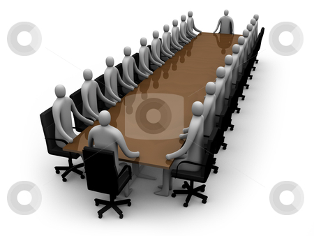 Business - Meeting stock photo, Computer generated image - Business - Meeting. by Konstantinos Kokkinis