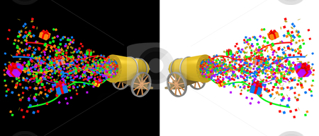 Party Cannon stock photo, Computer generated image. Party Cannon by Konstantinos Kokkinis