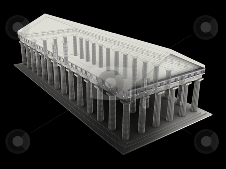 Ancient Temple stock photo, Computer generated image - Ancient Temple. by Konstantinos Kokkinis